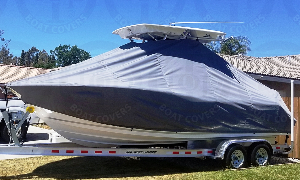 Sea Fox 248CC Commander, 20xx new Hard T Top, TTopCovers™ T-Top boat cover, port front