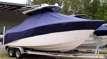 Sea Fox 256CC Commander, 20xx, TTopCovers™ T-Top boat cover, starboard fron