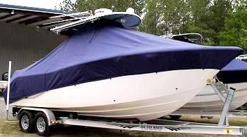 Sea Fox 256CC Commander, 20xx, TTopCovers™ T-Top boat cover, starboard front
