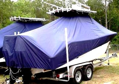 Sea Fox 256CC Commander, 20xx, TTopCovers™ T-Top boat cover, starboard rear