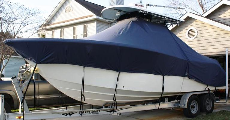 Sea Fox 256CC Pro, 2007, TTopCovers™ T-Top boat cover, port front