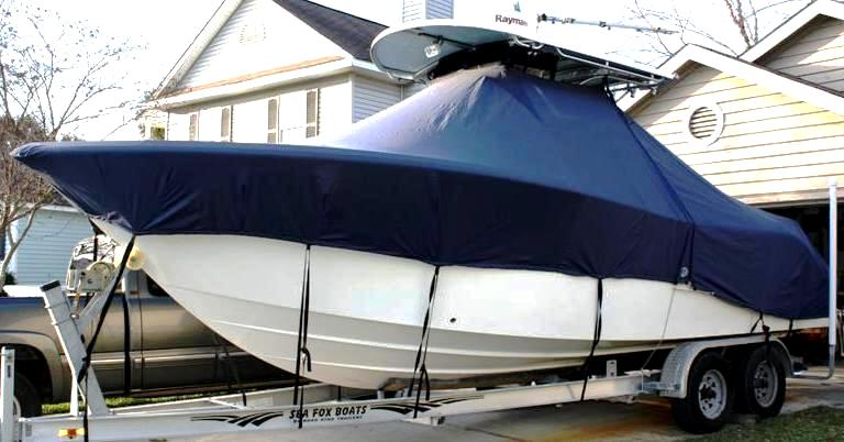 Sea Fox 256CC, 2007, TTopCovers™ T-Top boat cover, port front