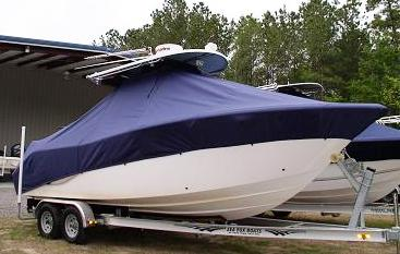 Sea Fox 256CC, 2010, TTopCovers™ T-Top boat cover 460 Front