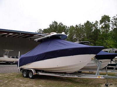 Sea Fox 256CC, 2010, TTopCovers™ T-Top boat cover 460 Front 400x300