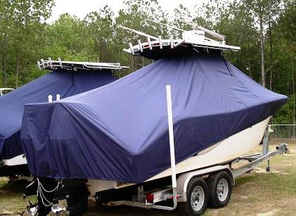 Sea Fox 256CC, 2010, TTopCovers™ T-Top boat cover 460 Rear