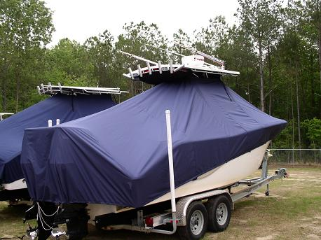 Sea Fox 256CC, 20xx, TTopCovers™ T-Top boat cover 460 Rear