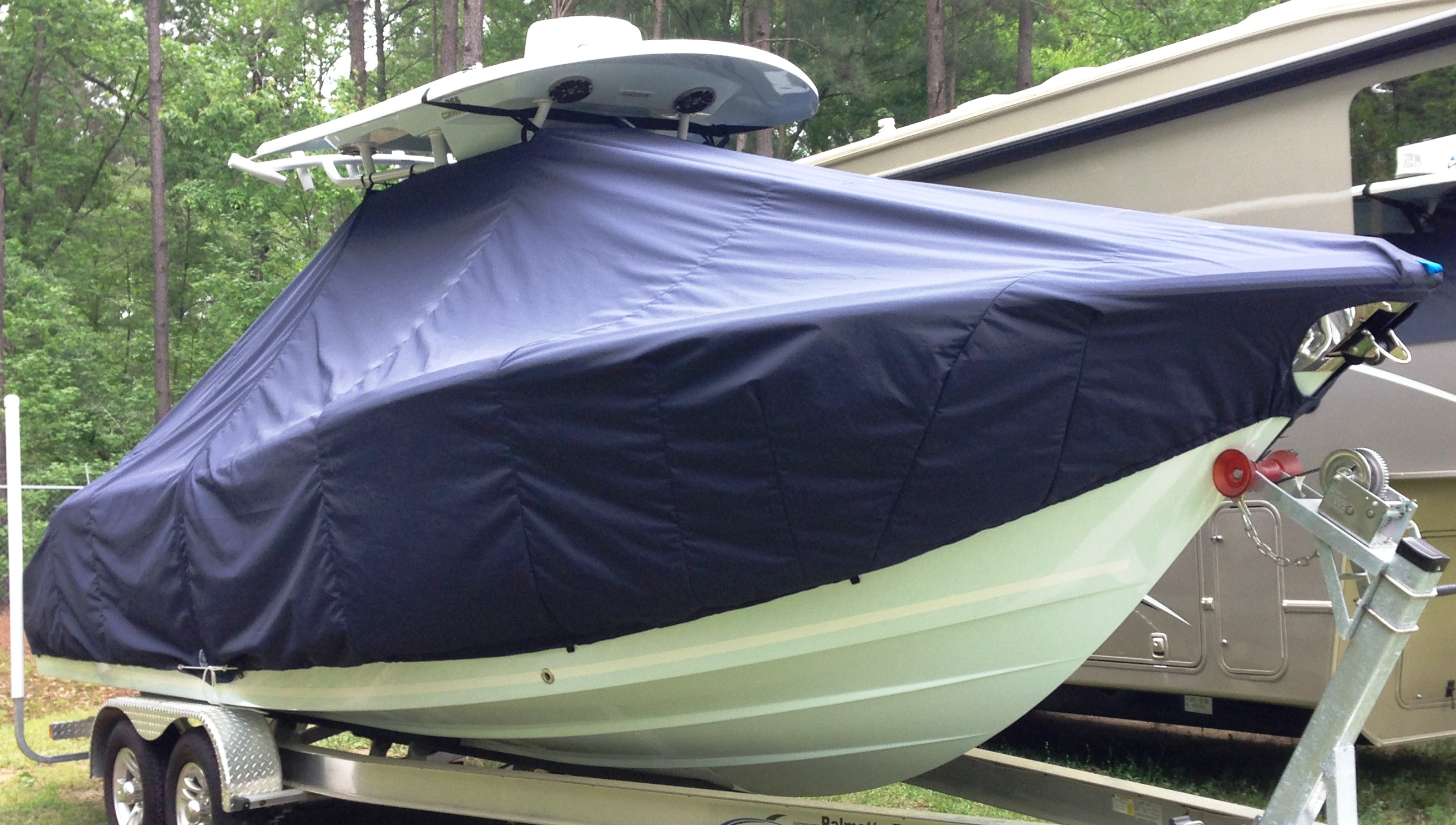Sea Fox 266CC Commander, 20xx, TTopCovers™ T-Top boat cover, starboard front