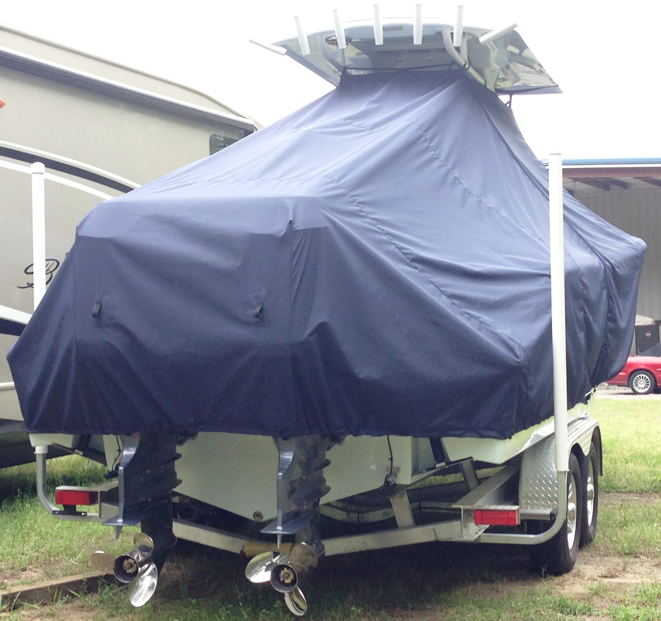 Sea Fox 266CC Commander, 20xx, TTopCovers™ T-Top boat cover, starboard rear
