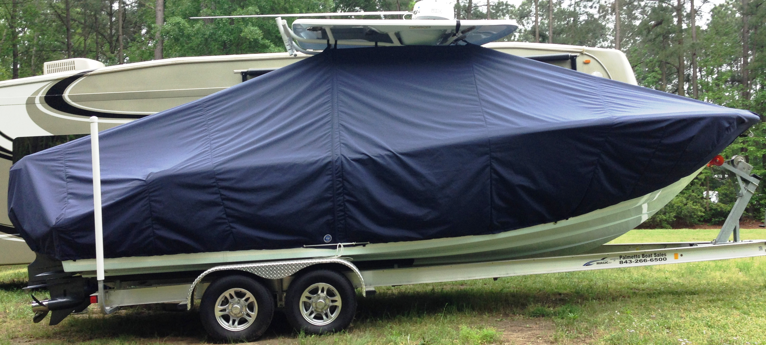 Sea Fox 266CC Commander, 20xx, TTopCovers™ T-Top boat cover, starboard side