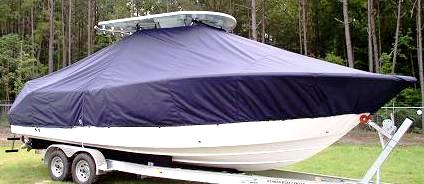 Sea Fox 286CC Commander, 20xx, TTopCovers™ T-Top boat cover, starboard front