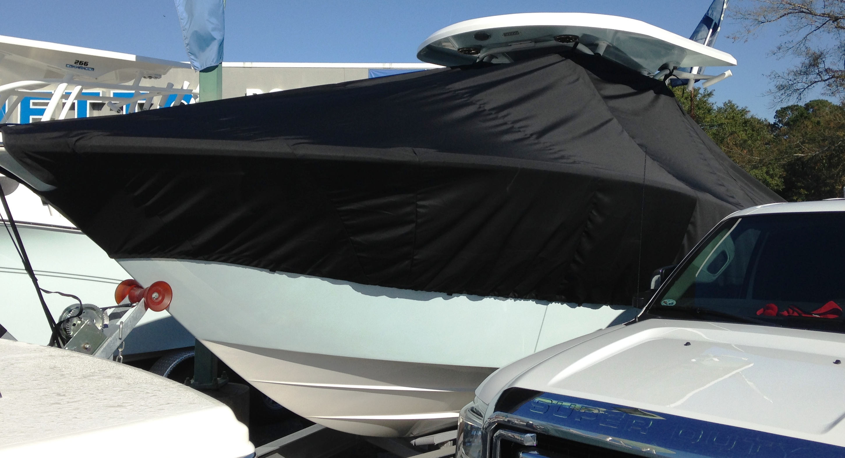 Sea Fox 286CC, 20xx, TTopCovers™ T-Top boat cover, port front