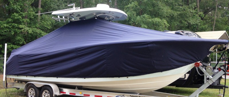 Sea Fox 288CC Commander, 20xx, TTopCovers™ T-Top boat cover, starboard front