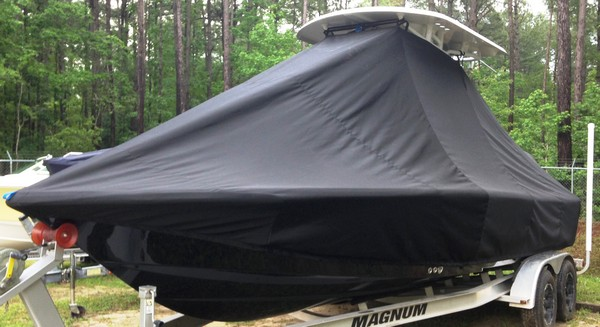 Sea Hunt 24RZR, 20xx, TTopCovers™ T-Top boat cover, port front
