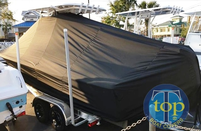 Sea Hunt 25BXBR, 20xx, TTopCovers™ T-Top boat cover, port rear