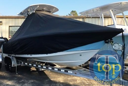 Sea Hunt 25BXBR, 20xx, TTopCovers™ T-Top boat cover, starboard front