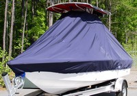 Photo of Sea Hunt® BX19 20xx T-Top Boat-Cover, viewed from Port Front