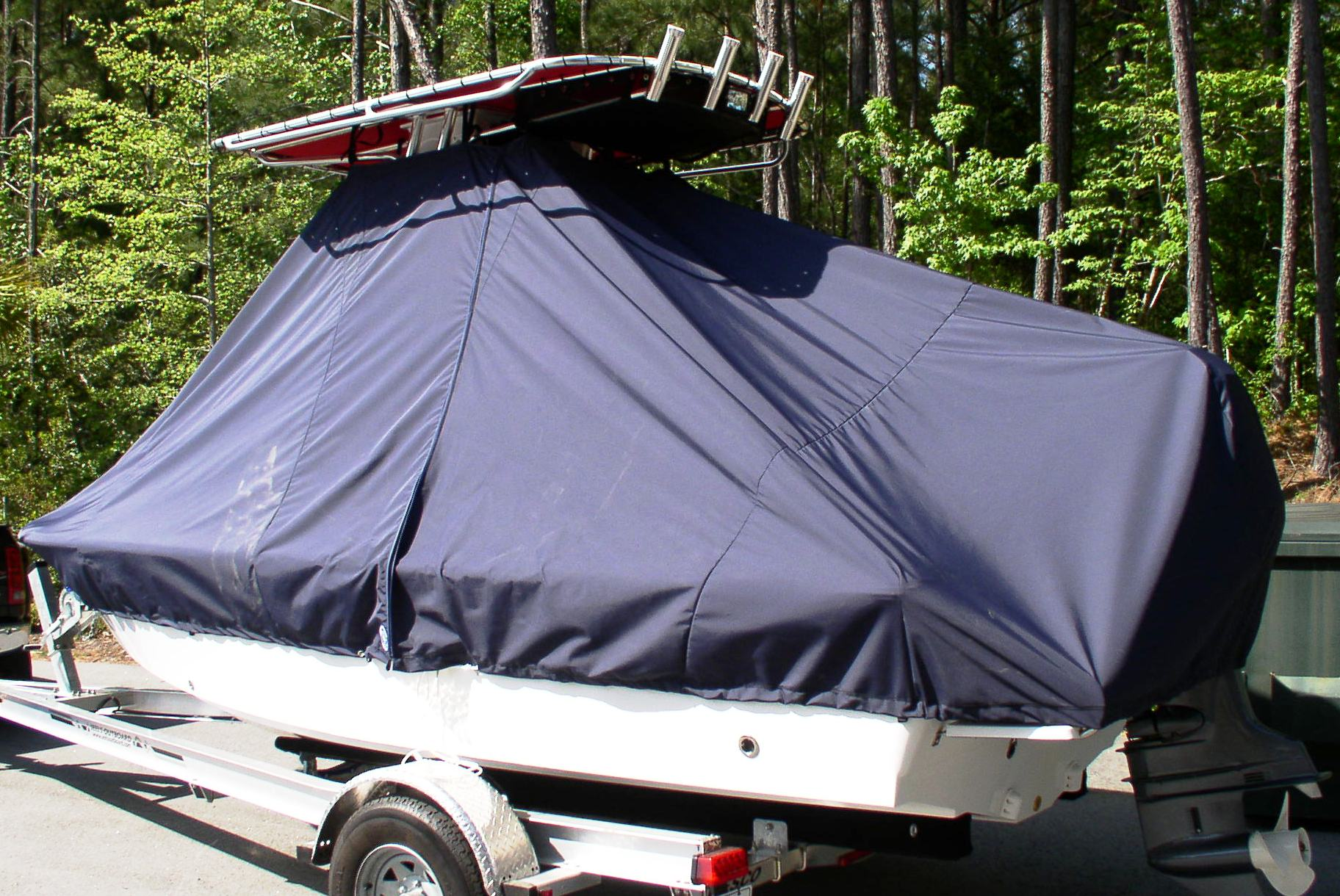 Sea Hunt BX19, 20xx, TTopCovers™ T-Top boat cover, port rear