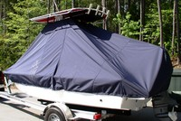 Photo of Sea Hunt® BX19 20xx T-Top Boat-Cover, viewed from Port Rear