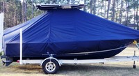 Photo of Sea Hunt® BX20BR 20xx T-Top Boat-Cover with Power Pole, viewed from Starboard Side