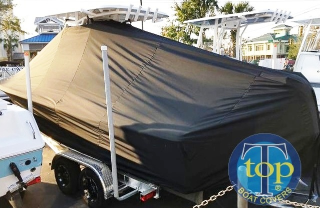 Sea Hunt BX25FS, 20xx, TTopCovers™ T-Top boat cover, port rear