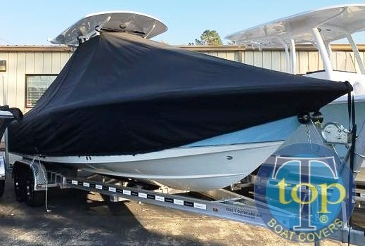 Sea Hunt BX25FS, 20xx, TTopCovers™ T-Top boat cover, starboard front