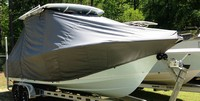 Photo of Sea Hunt® Edge 24 20xx T-Top Boat-Cover, viewed from Starboard Front