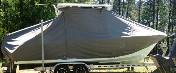 Sea Hunt Edge 24, 20xx, TTopCovers™ T-Top boat cover, starboard side