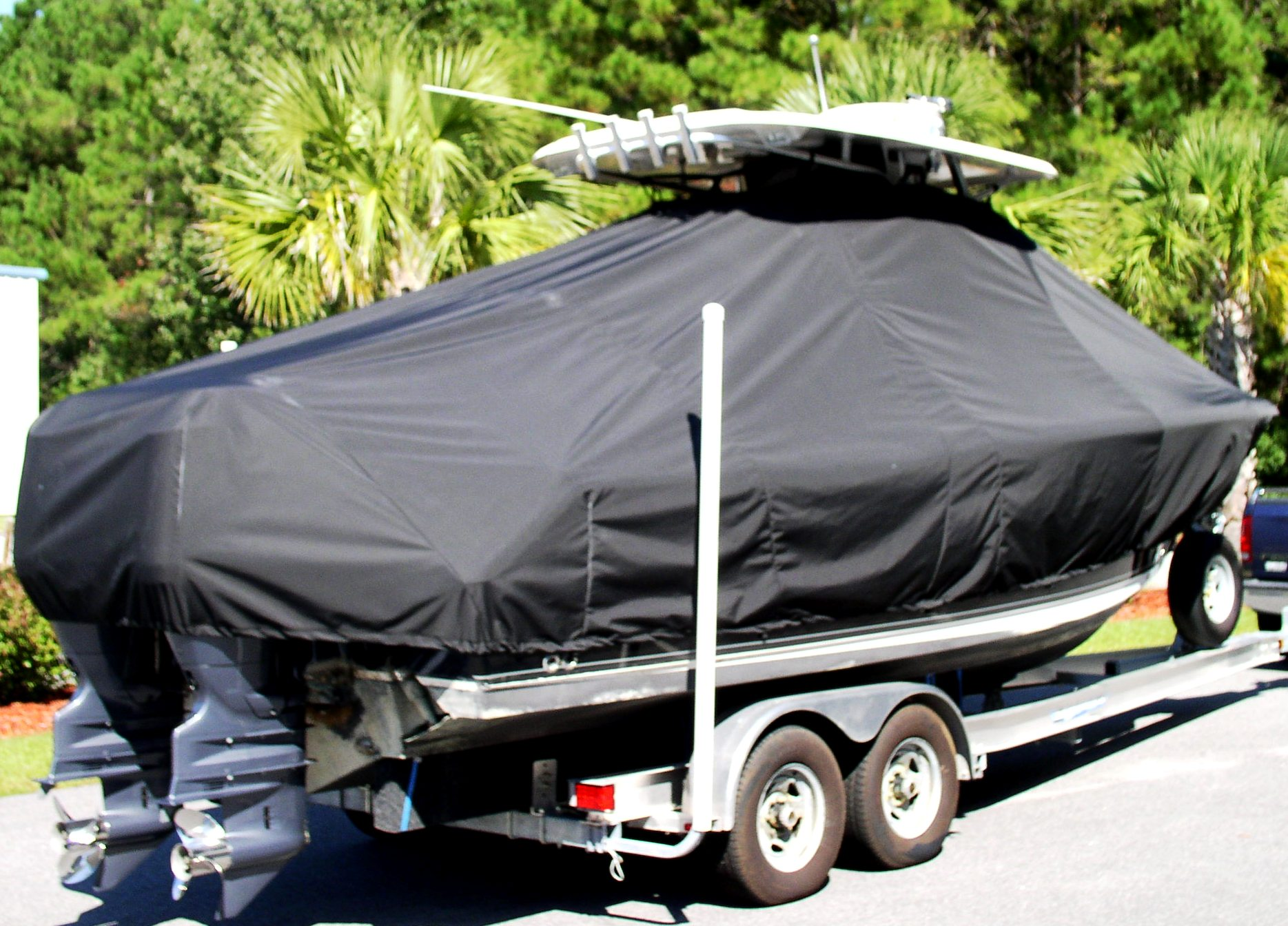 Sea Hunt Gamefish 25, 2012, TTopCovers™ T-Top boat cover, starboard rear