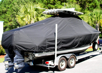 Photo of Sea Hunt® Gamefish-25, 2012: T-Top Boat-Cover, viewed from Starboard Rear