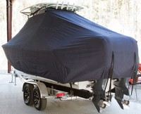 Photo of Sea Hunt® Gamefish-25 20xx T-Top Boat-Cover, viewed from Port Rear