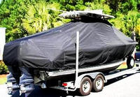 Photo of Sea Hunt® Gamefish-25 20xx T-Top Boat-Cover, viewed from Starboard Rear