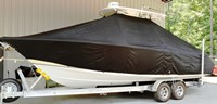 Photo of Sea Hunt® Gamefish-26 20xx T-Top Boat-Cover, viewed from Port Side