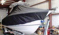 Photo of Sea Hunt® Gamefish-26 20xx T-Top Boat-Cover, viewed from Starboard Front