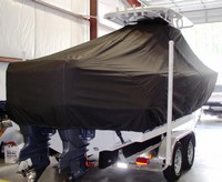 Photo of Sea Hunt® Gamefish-26 20xx T-Top Boat-Cover, viewed from Starboard Rear