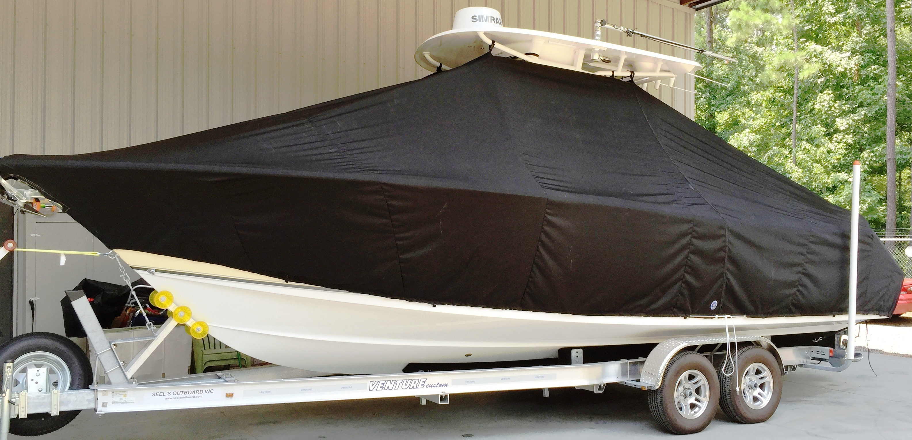 Sea Hunt Gamefish 27, 20xx, TTopCovers™ T-Top boat cover, port side