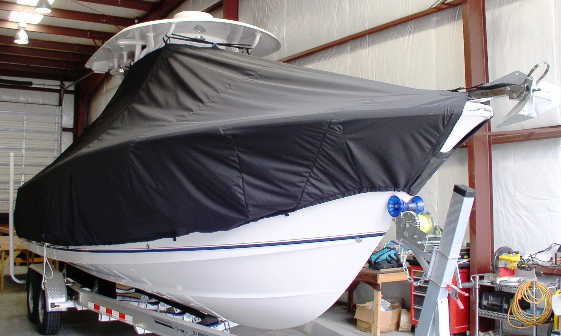 Sea Hunt Gamefish 27, 20xx, TTopCovers™ T-Top boat cover, starboard front