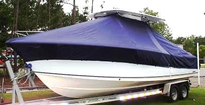 Sea Hunt Gamefish 29, 20xx, TTopCovers™ T-Top boat cover, port front
