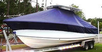 Photo of Sea Hunt® Gamefish-29 20xx T-Top Boat-Cover, viewed from Port Front