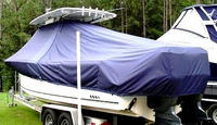 Photo of Sea Hunt® Gamefish-29 20xx T-Top Boat-Cover, viewed from Port Rear
