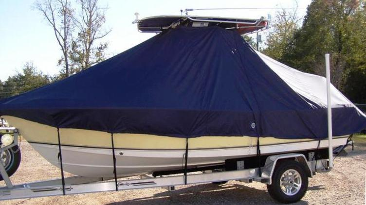 Sea Hunt Triton 220, 20xx, TTopCovers™ T-Top boat cover, port side