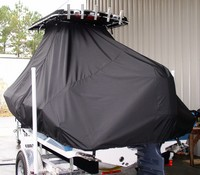 Photo of Sea Hunt® Triton-186 20xx T-Top Boat-Cover, viewed from Port Rear