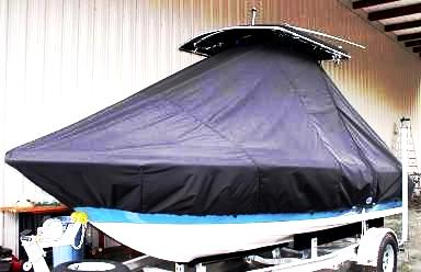 Sea Hunt Triton 188, 20xx, TTopCovers™ T-Top boat cover, port front