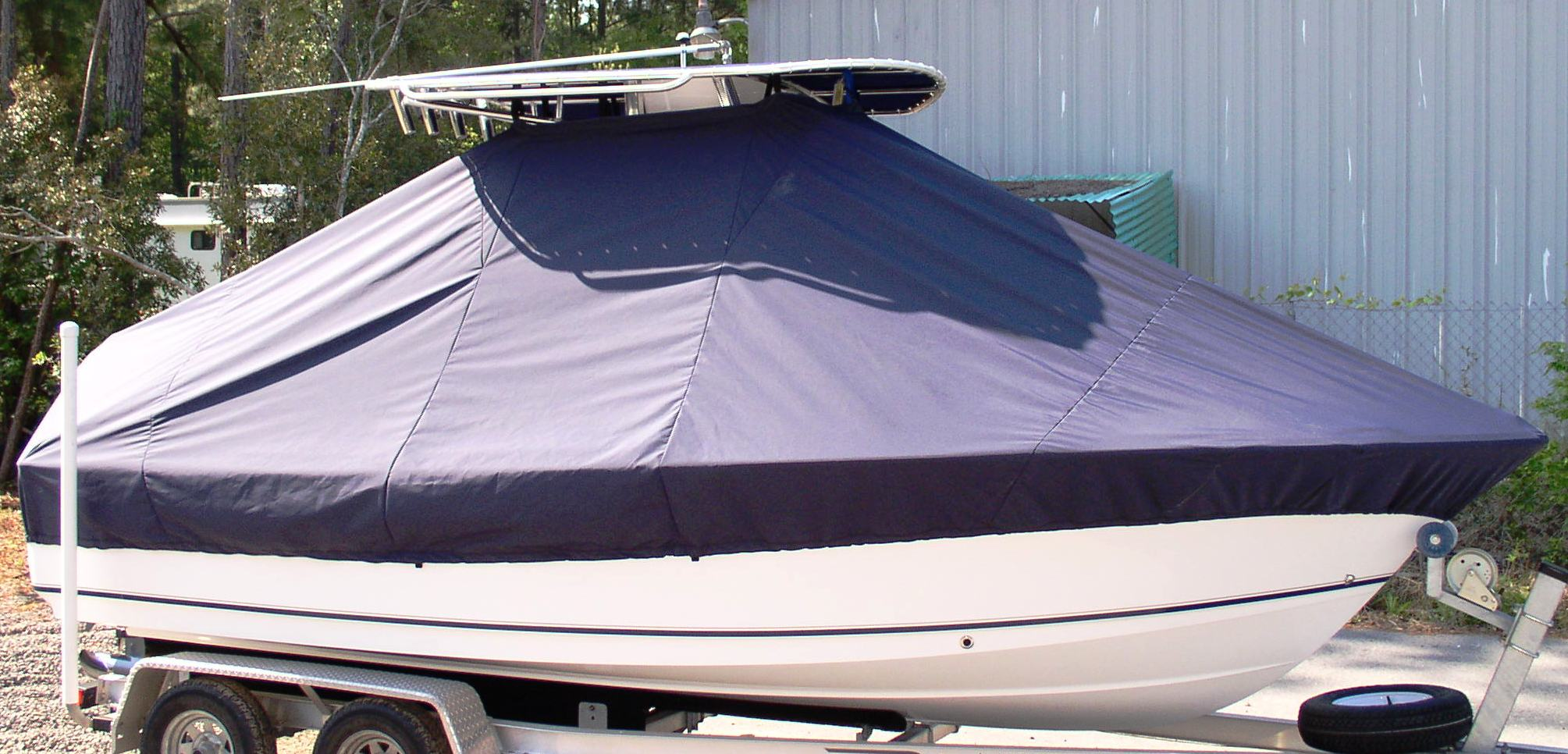 Sea Hunt Triton 202, 20xx, TTopCovers™ T-Top boat cover, starboard front