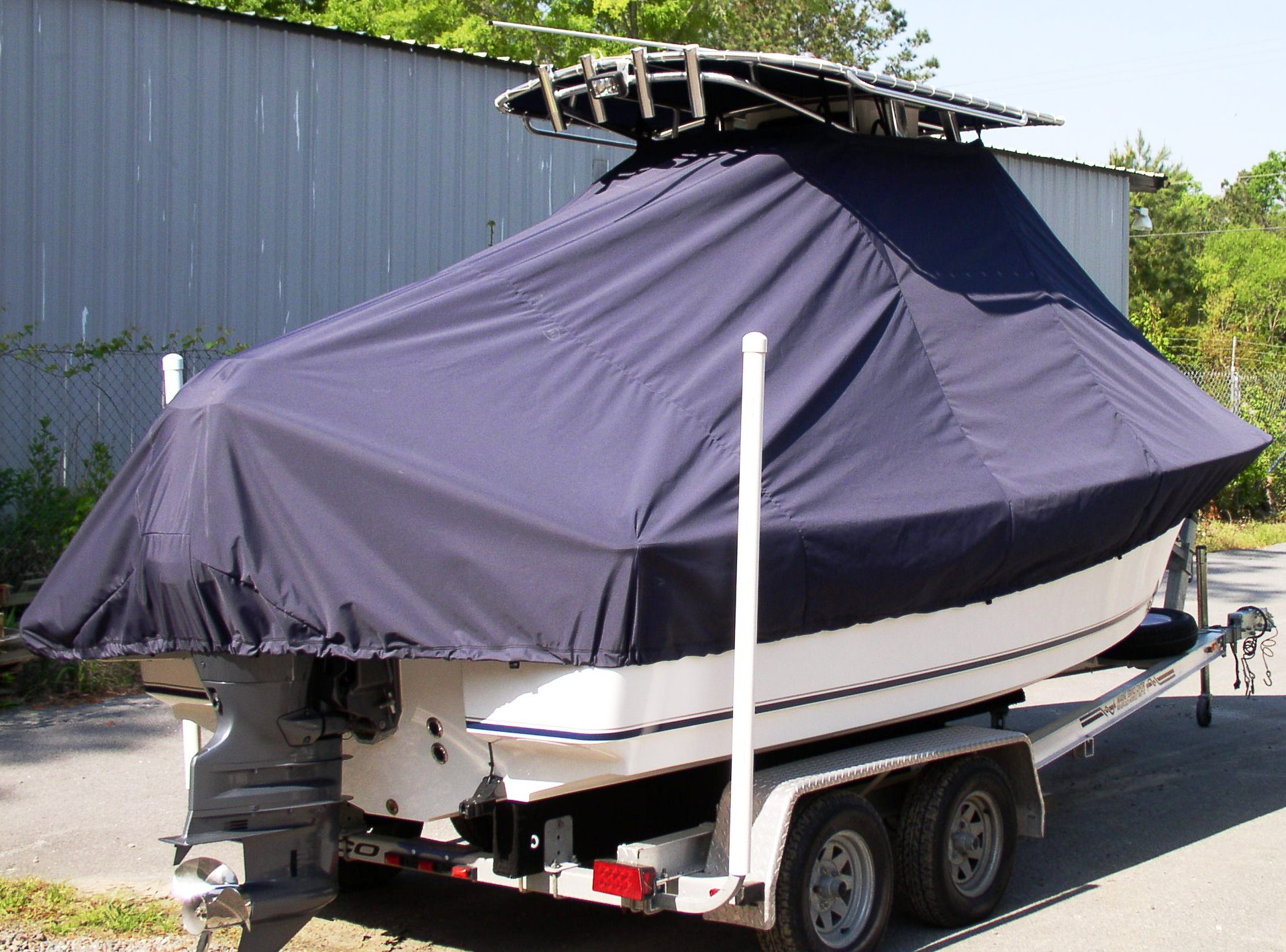 Sea Hunt Triton 202, 20xx, TTopCovers™ T-Top boat cover, starboard rear