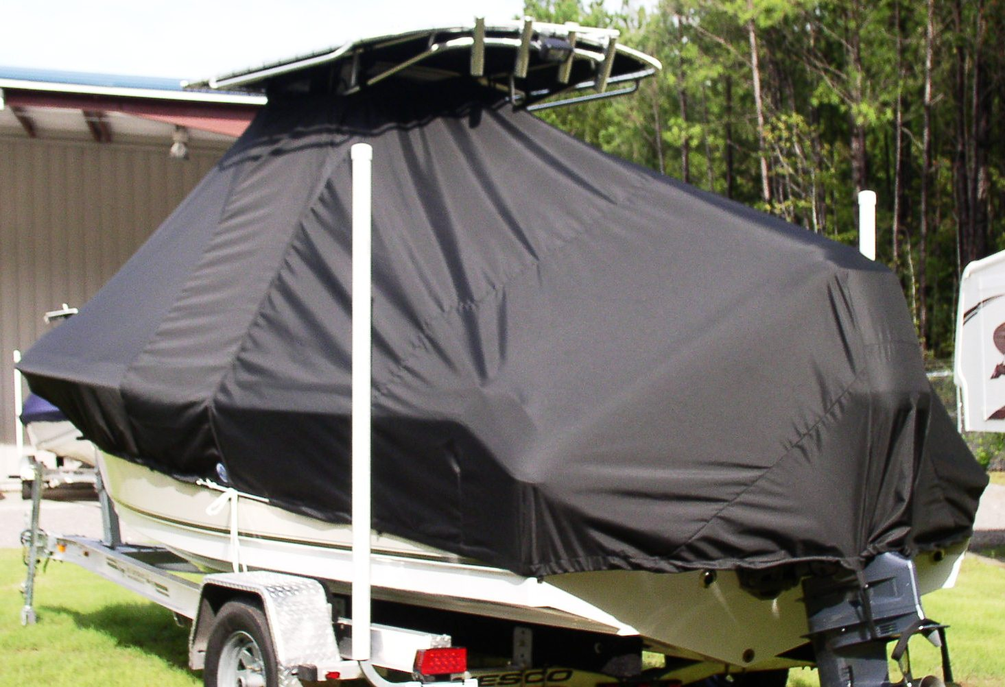 Sea Hunt Triton 210, 20xx, TTopCovers™ T-Top boat cover, port rear