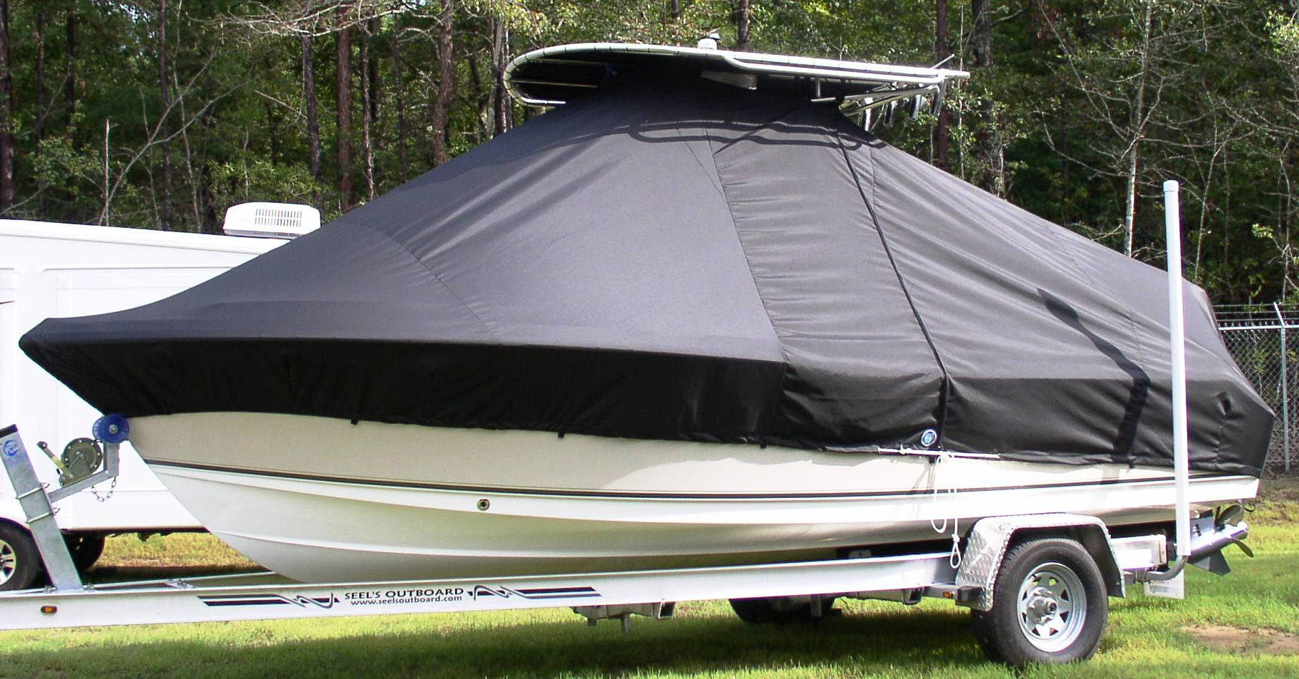 Sea Hunt Triton 210, 20xx, TTopCovers™ T-Top boat cover, port side