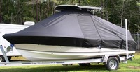 Photo of Sea Hunt® Triton-210 20xx T-Top Boat-Cover, viewed from Port Side