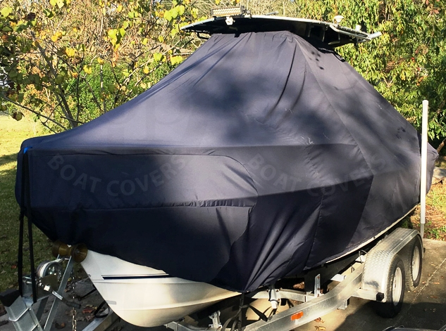Sea Hunt Triton 212, 20xx, TTopCovers™ T-Top boat cover, port front