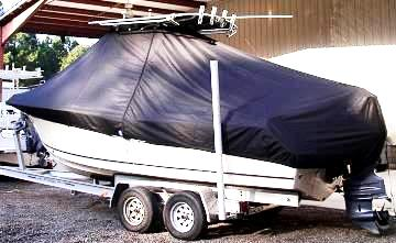 Sea Hunt Triton 220, 20xx, TTopCovers™ T-Top boat cover, port rear