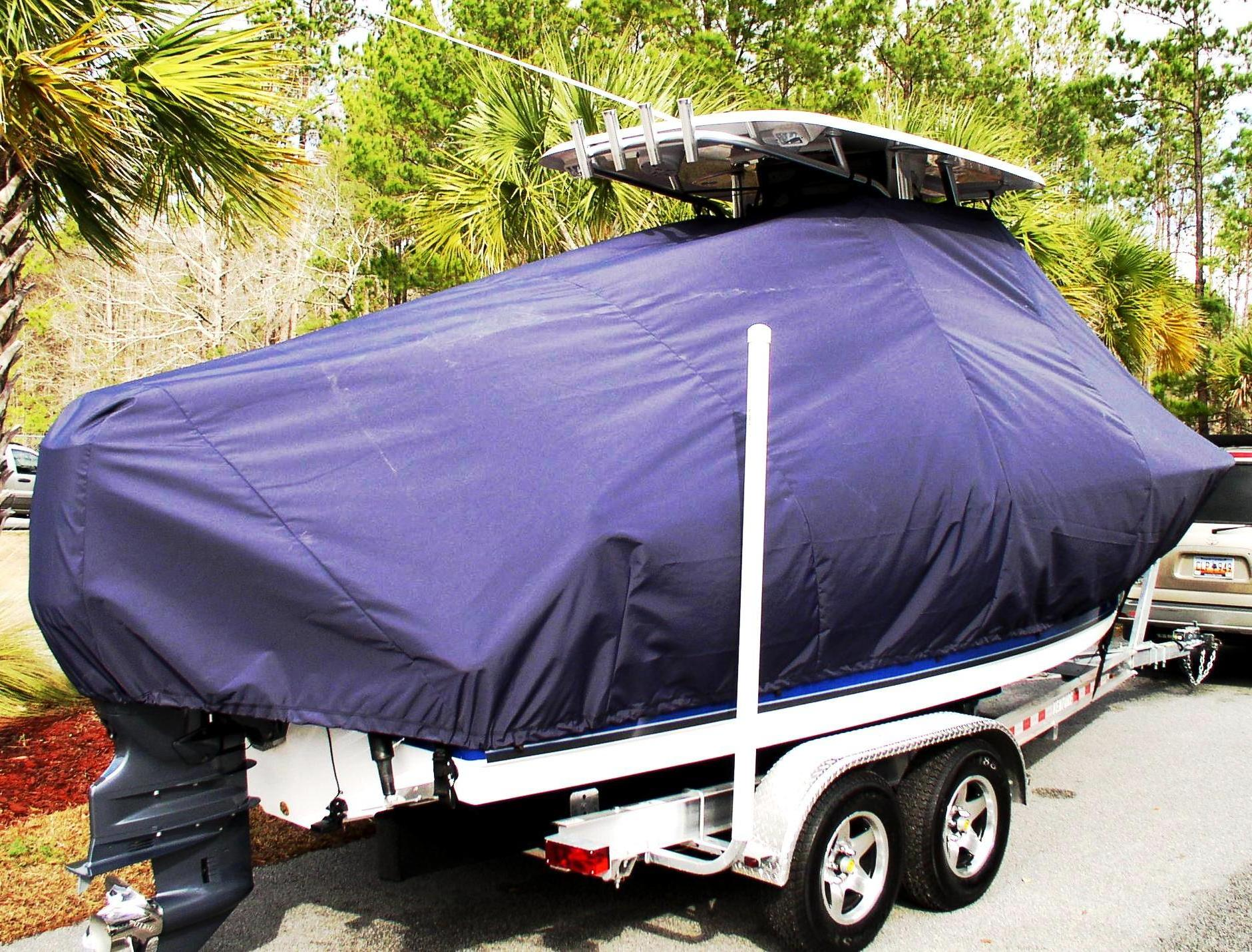 Sea Hunt Triton 225, 20xx, TTopCovers™ T-Top boat cover, starboard rear